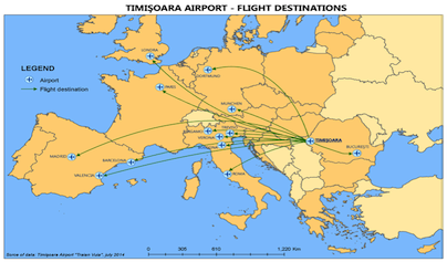 Image result for tIMISOARA/traian vuia international airport/flights/map